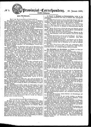 Provinzial-Correspondenz vom 29.01.1868