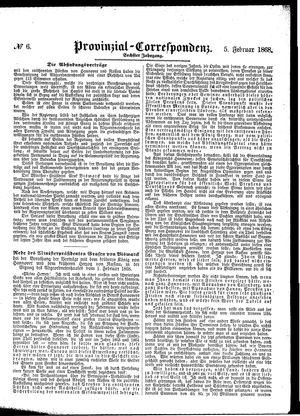 Provinzial-Correspondenz vom 05.02.1868