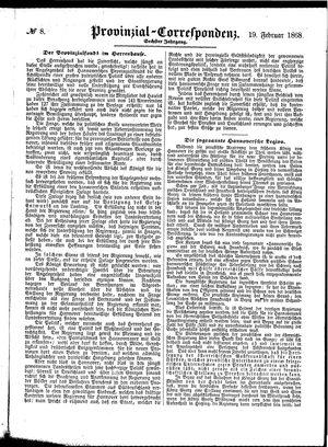 Provinzial-Correspondenz vom 19.02.1868