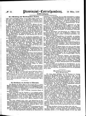 Provinzial-Correspondenz vom 18.03.1868