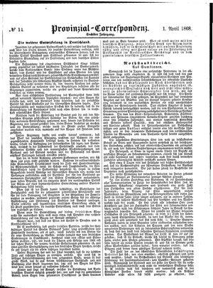 Provinzial-Correspondenz vom 01.04.1868