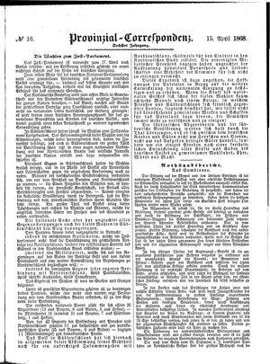 Provinzial-Correspondenz vom 15.04.1868