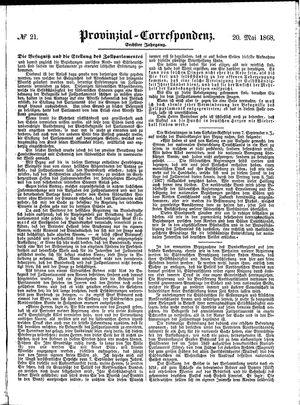 Provinzial-Correspondenz vom 20.05.1868