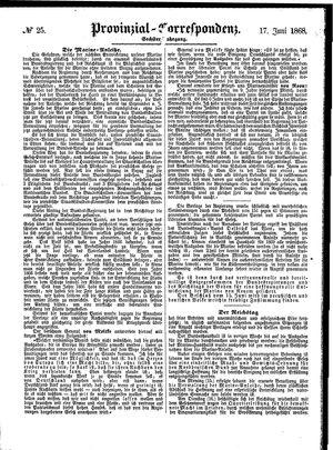 Provinzial-Correspondenz vom 17.06.1868