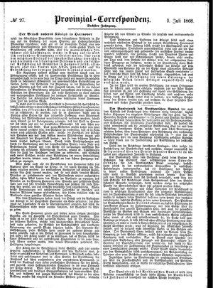 Provinzial-Correspondenz vom 01.07.1868