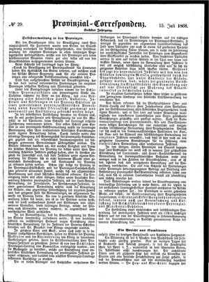 Provinzial-Correspondenz vom 15.07.1868