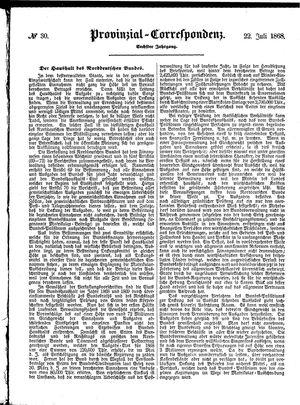 Provinzial-Correspondenz vom 22.07.1868