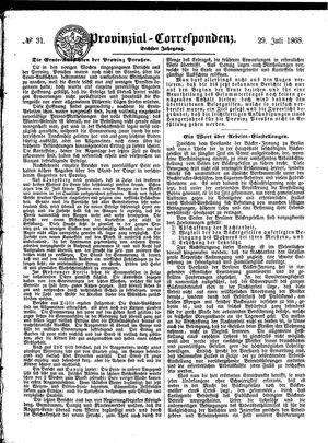 Provinzial-Correspondenz on Jul 29, 1868