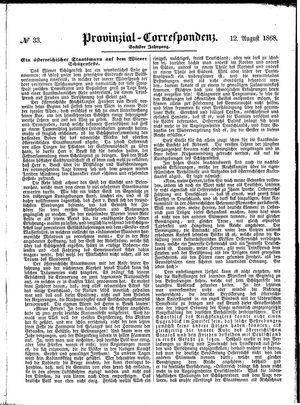 Provinzial-Correspondenz vom 12.08.1868