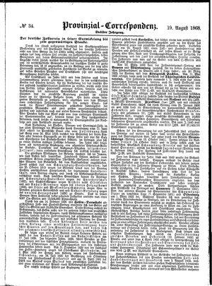 Provinzial-Correspondenz vom 19.08.1868