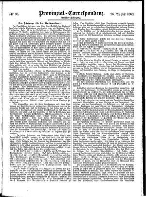 Provinzial-Correspondenz vom 26.08.1868