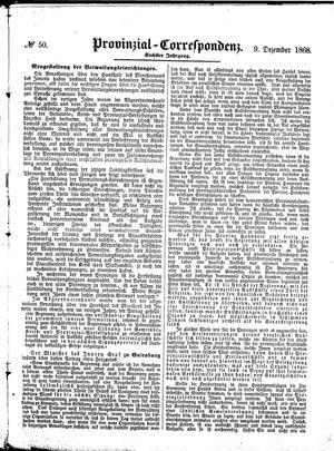 Provinzial-Correspondenz vom 09.12.1868