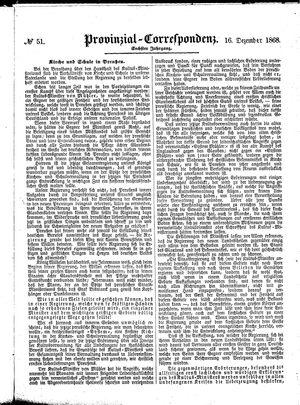 Provinzial-Correspondenz vom 16.12.1868