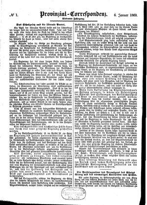 Provinzial-Correspondenz vom 06.01.1869