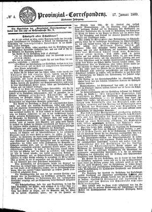 Provinzial-Correspondenz on Jan 27, 1869