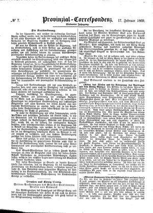 Provinzial-Correspondenz vom 17.02.1869