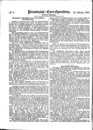 Provinzial-Correspondenz vom 24.02.1869