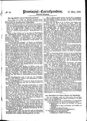 Provinzial-Correspondenz vom 10.03.1869