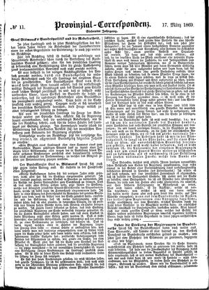 Provinzial-Correspondenz on Mar 17, 1869