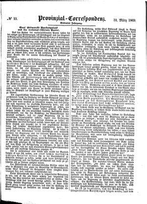 Provinzial-Correspondenz vom 31.03.1869