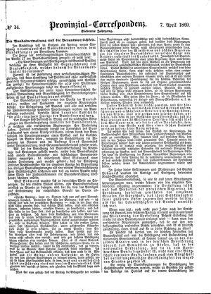 Provinzial-Correspondenz vom 07.04.1869