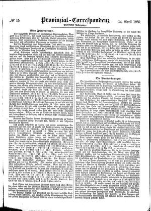 Provinzial-Correspondenz vom 14.04.1869