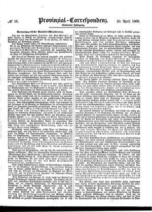 Provinzial-Correspondenz vom 20.04.1869