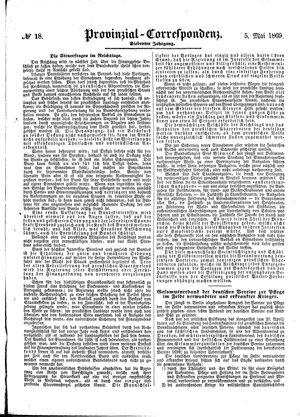 Provinzial-Correspondenz vom 05.05.1869