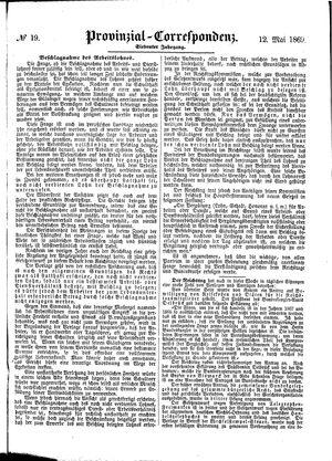 Provinzial-Correspondenz vom 12.05.1869