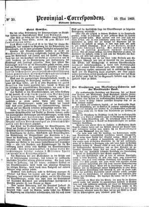 Provinzial-Correspondenz on May 19, 1869