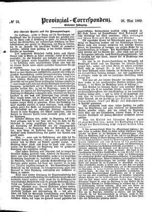 Provinzial-Correspondenz vom 26.05.1869