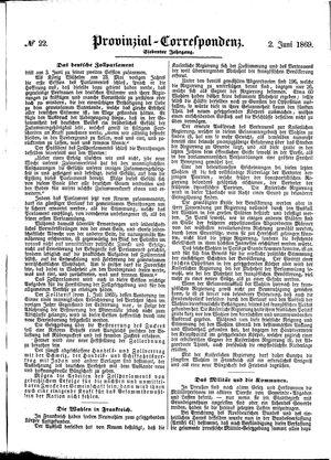 Provinzial-Correspondenz vom 02.06.1869