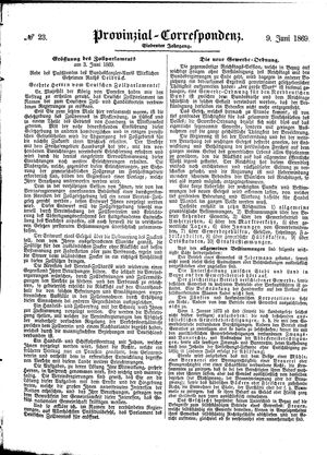 Provinzial-Correspondenz on Jun 9, 1869