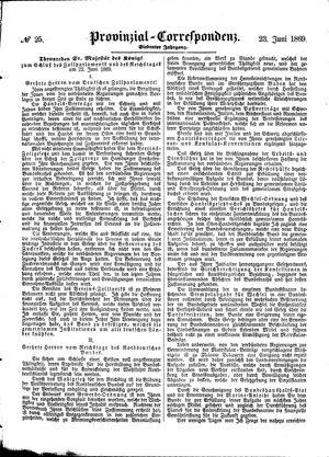 Provinzial-Correspondenz vom 23.06.1869