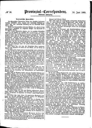 Provinzial-Correspondenz vom 30.06.1869