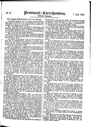 Provinzial-Correspondenz vom 07.07.1869