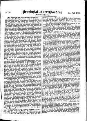 Provinzial-Correspondenz vom 14.07.1869