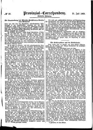 Provinzial-Correspondenz vom 21.07.1869