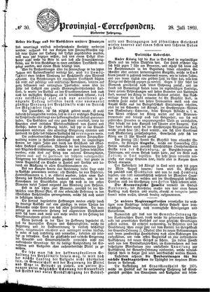 Provinzial-Correspondenz vom 28.07.1869
