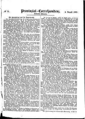 Provinzial-Correspondenz vom 04.08.1869
