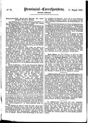 Provinzial-Correspondenz vom 11.08.1869