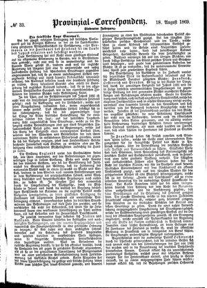 Provinzial-Correspondenz vom 18.08.1869