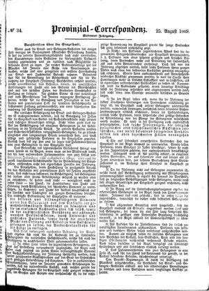 Provinzial-Correspondenz vom 25.08.1869