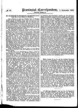 Provinzial-Correspondenz vom 01.09.1869