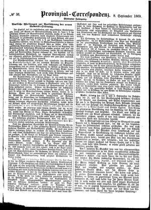 Provinzial-Correspondenz vom 08.09.1869
