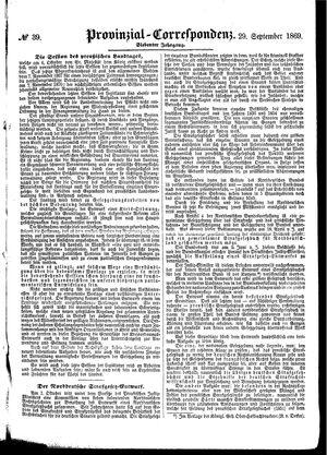 Provinzial-Correspondenz vom 29.09.1869