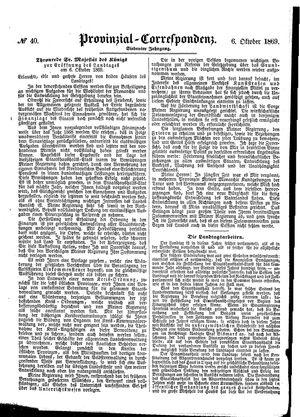 Provinzial-Correspondenz vom 06.10.1869