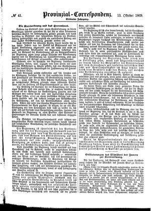 Provinzial-Correspondenz vom 13.10.1869