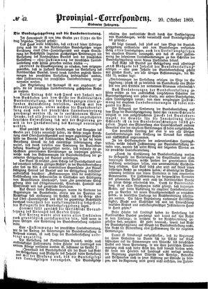 Provinzial-Correspondenz vom 20.10.1869