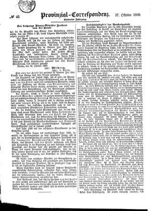 Provinzial-Correspondenz on Oct 27, 1869